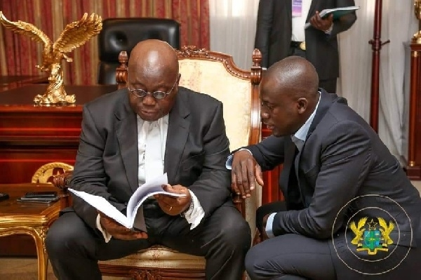 President Nana Akufo-Addo and his Director of Communication Eugene Arhin