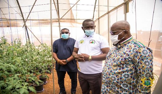 President Nana Akufo-Addo inspecting the facility