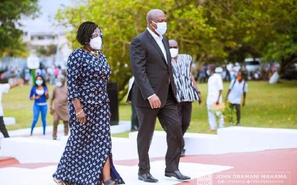 John Mahama and his running mate, Professor Naana Jane Opoku-Agyemang