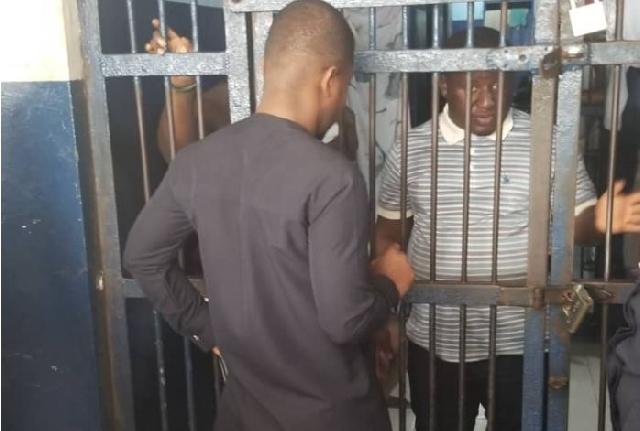 Sammy Gyamfi talking to the suspect