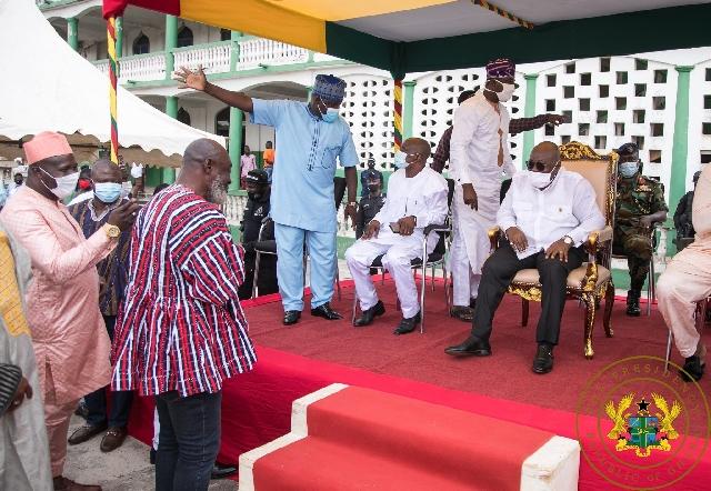 President Nana Akufo-Addo at the Eid festival in Asawase