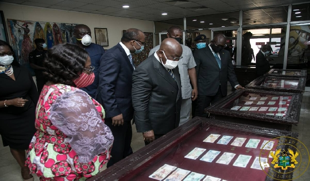 President Nana Akufo-Addo with BoG Governor Dr Ernest Addison at the central bank