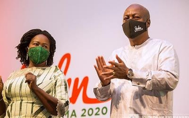 Flagbearer of NDC, John Dramani Mahama, and his running mate, Prof Naana Jane Opoku-Agyemang