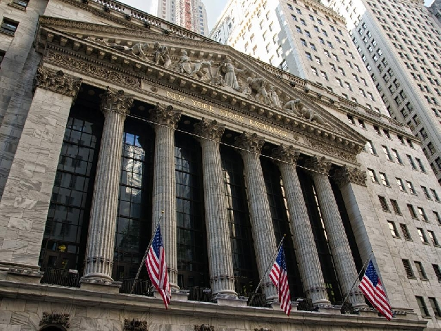 Front view of the New York Stock Exchange