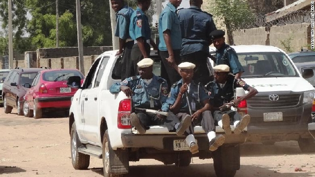A team of Islamic sharia enforcers called Hisbah on patrol in the northern Nigerian city of Kano.