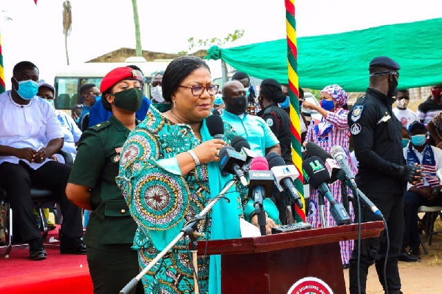 Rebecca Akufo Addo speaking at the event