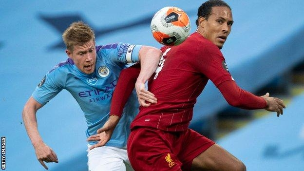 Kevin de Bruyne and Virgil van Dijk are on the six-man player of the year shortlist