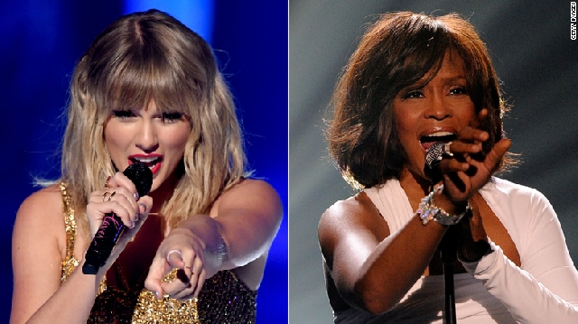 Taylor Swift and Whitney Houston
