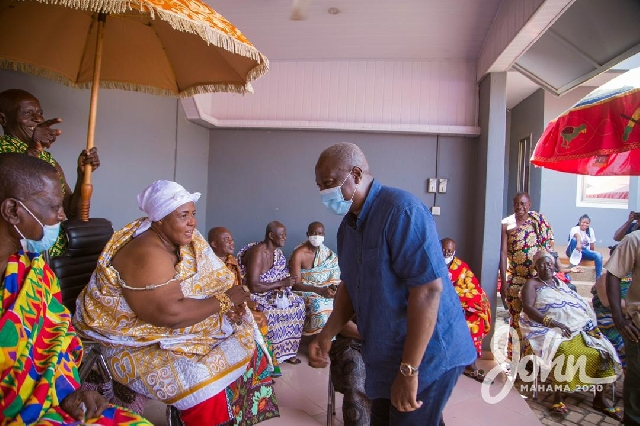 Former President John Mahama and the queen mother