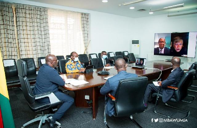 Bawumia at a virtual meeting with Bill Gates