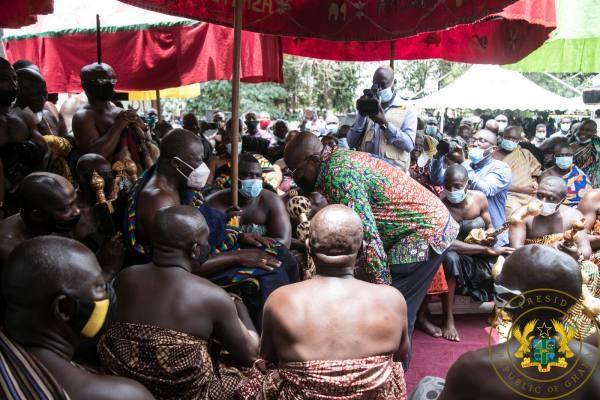 Otumfuo Osei Tutu II and Nana Akufo-Addo