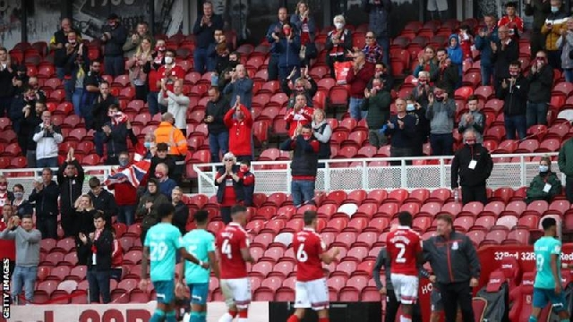 Middlesbrough hosted 1,000 socially-distanced fans in their Championship match against Bournemouth on 19 September