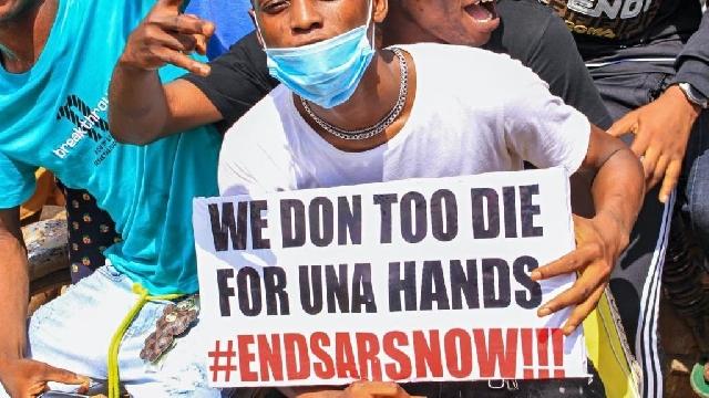 End Sars protest in Nigeria