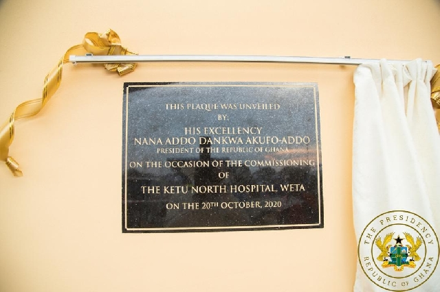 Akufo-Addo commissioned a €14.5 million 60-bed hospital in Ketu North