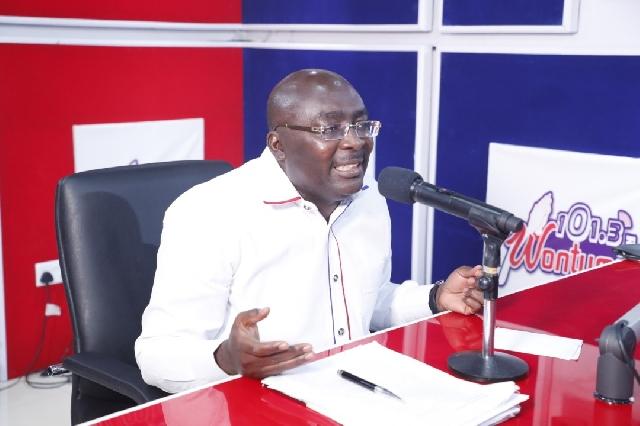 Dr Bawumia speaking on Wontumi FM today