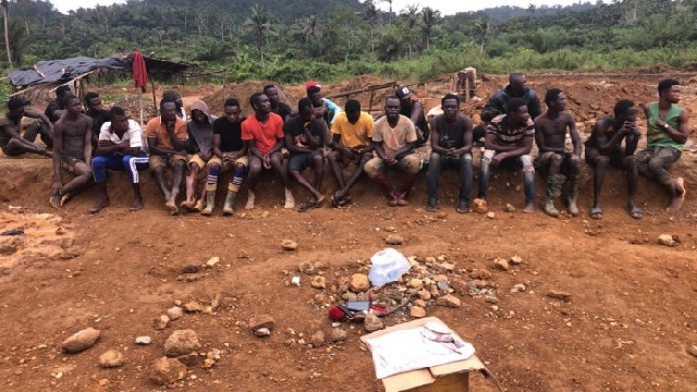 small scale miners busted