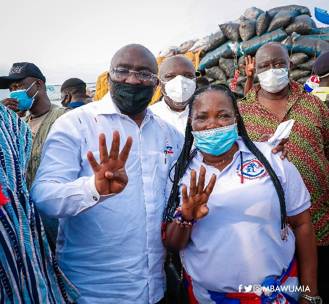 Vice-President Mahamudu Bawumia and some party supporters