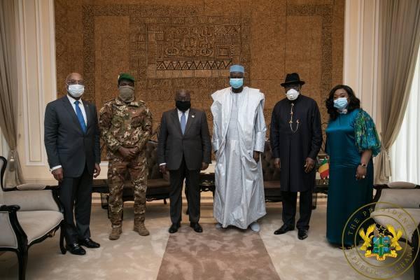 President Nana Akufo-Addo and the Mali delegation
