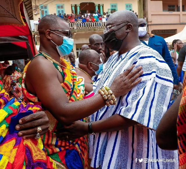 The chiefs of the area with Dr Bawumia