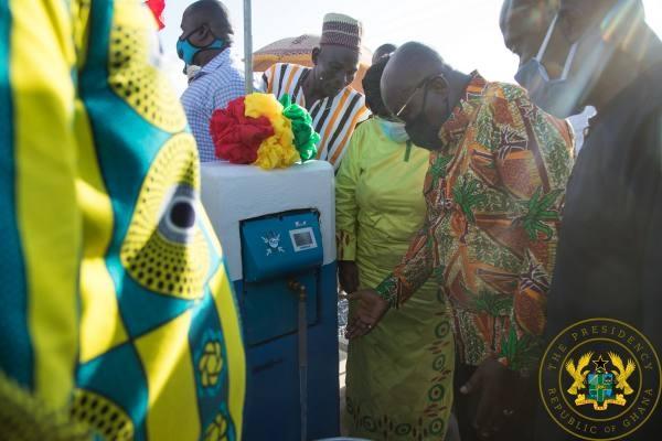 President Nana Akufo-Addo opening the project
