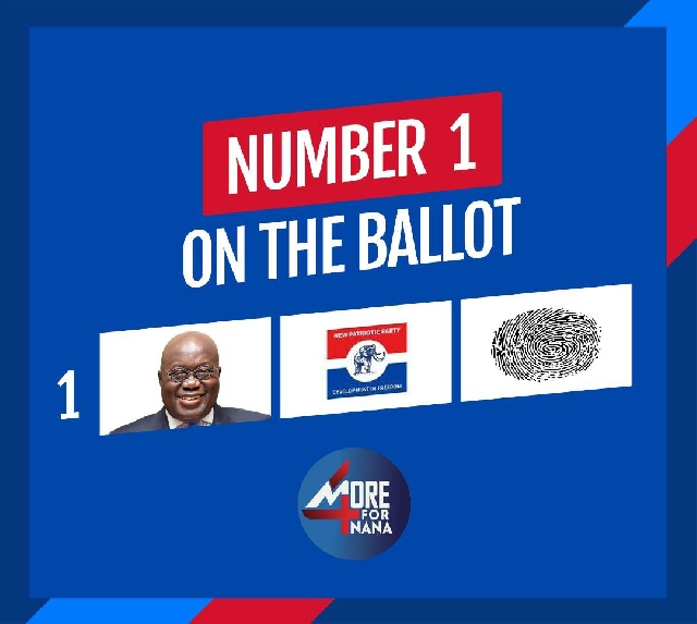 The NPP is number one on the ballot paper