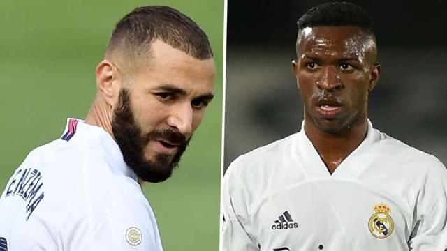 Karim Benzema and Vinicious Jnr