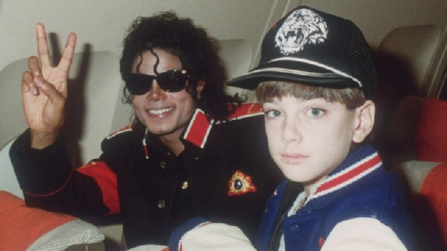 Michael Jackson and 10-year-old James Safechuck in 1988