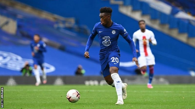 Hudson-Odoi has made five appearances in all competitions for Chelsea this season