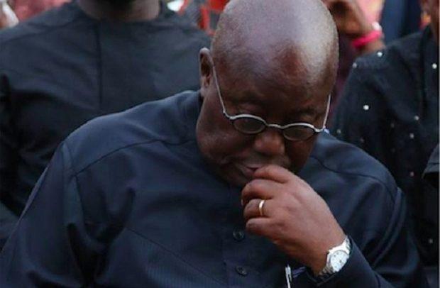 President Nana Akufo-Addo mourning the dead in the Akyem Batabi church disaster