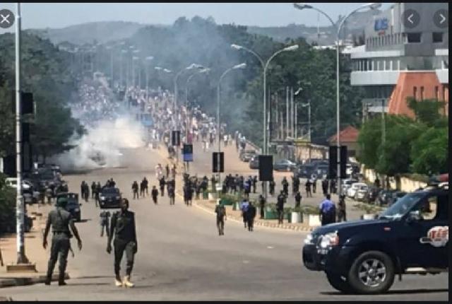 Protestors were shot at