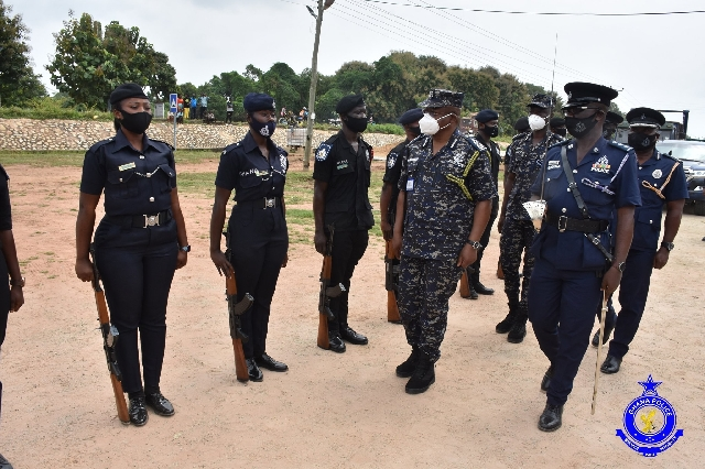 IGP inspects a guard of honour