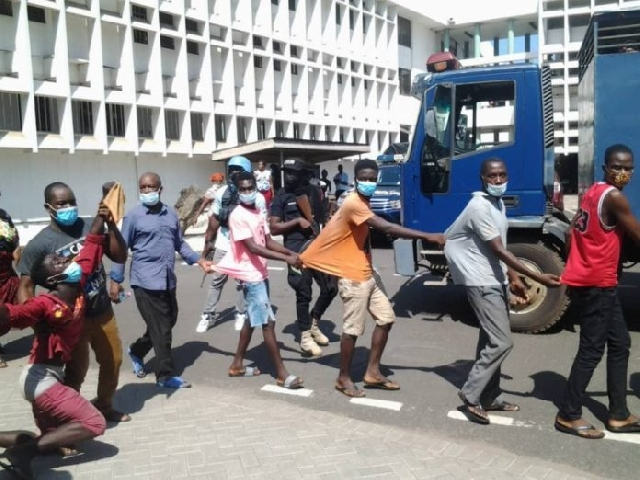The 27 persons alleged to have caused disturbances in the Volta Region have been charged with treason felony