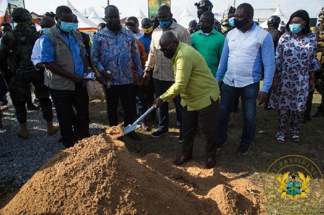 President Akufo-Addo at the sod cutting ceremony