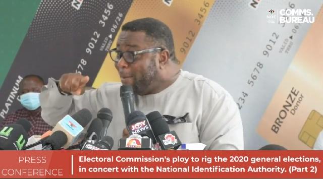 NDC's Director of Elections Elvis Afriyie Ankrah