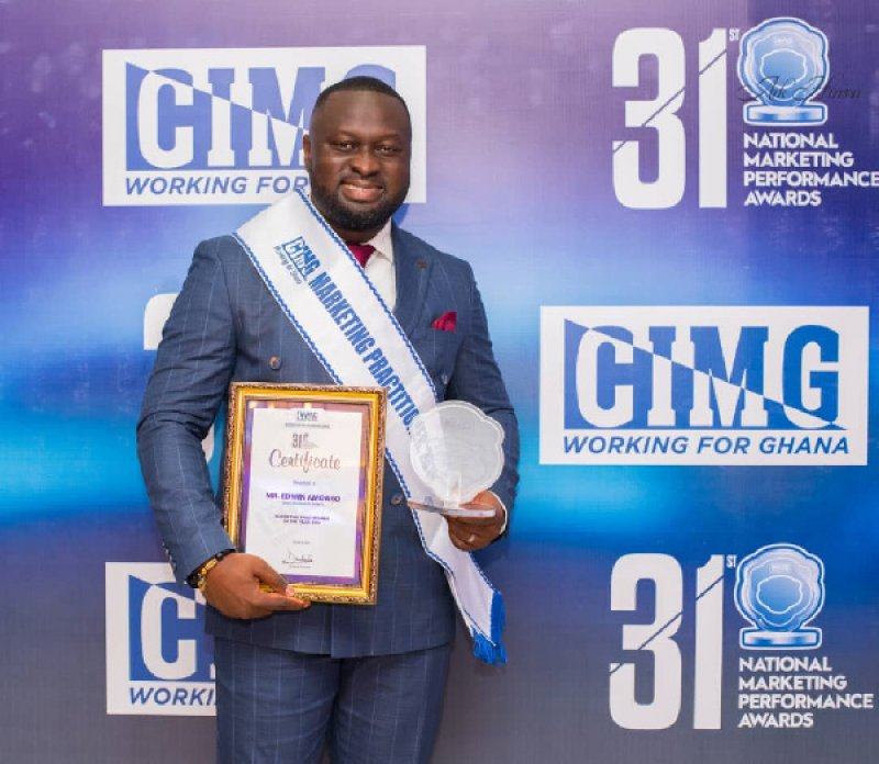 Edward Amoako adjudged CIMG Marketing Practitioner of the Year