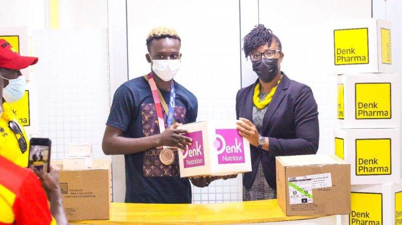 Denk Pharma gifts Takyi $1000 for winning Bronze medal in Olympic Games